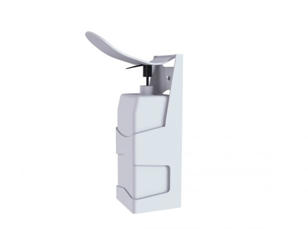 Plastic wall mounted gel dispenser pump action