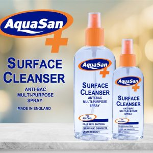 Surface Cleanser – Malibu Aquasan Anti-Bacterial Spray 100ml
