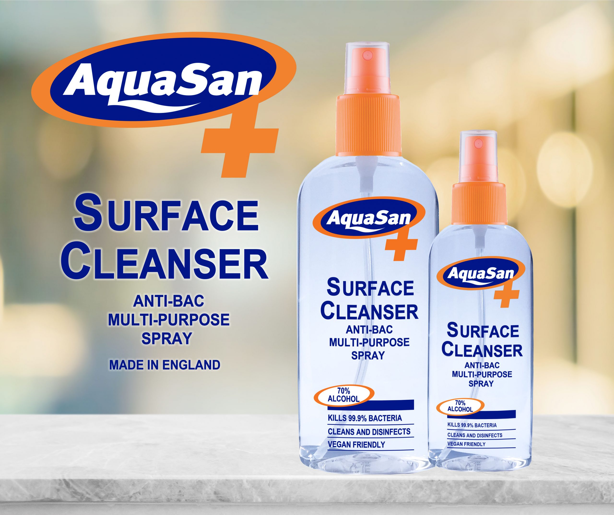 Malibu Aquasan Antibacterial Surface Cleanser Multipurpose Spray Sterry Telecoms