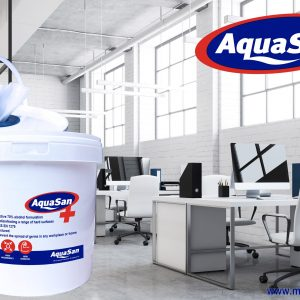 Aquasan Surface Sanitiser Wipes – Bucket (460 Wipes)
