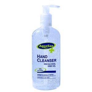 Malibu AquaSan Hand Sanitiser With 65% Alcohol And Aloe Vera – 500ml