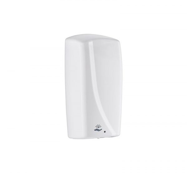 White plastic contactless hand gel dispenser