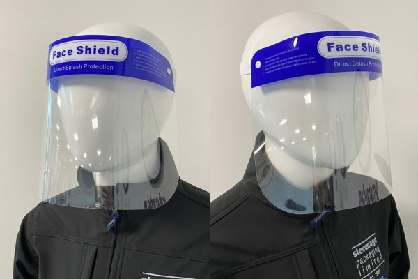 Clear plastic reusable protective face shield
